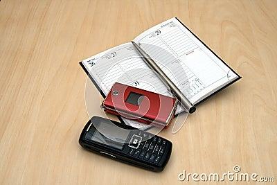 calendar mobiles and pen