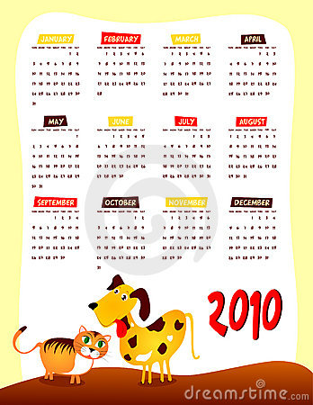 Calendar of next year