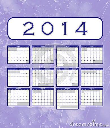 2014 calendar notes