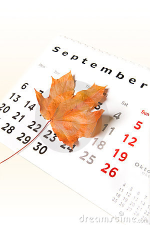Calendar page and leaf