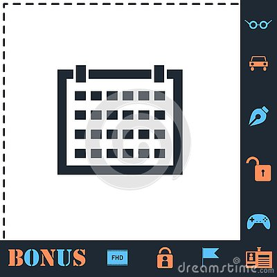 Calendar icon flat Vector Illustration