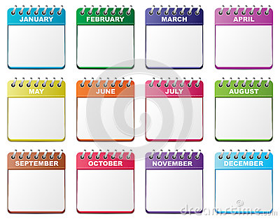 Calendar set Vector Illustration