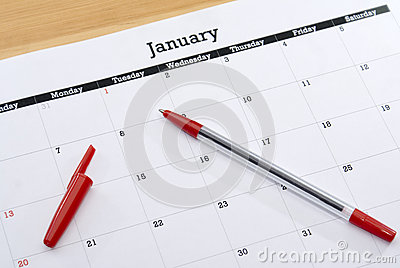 Calendar Sheet January