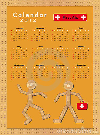 Calendar Sticking plaster Figure 2012