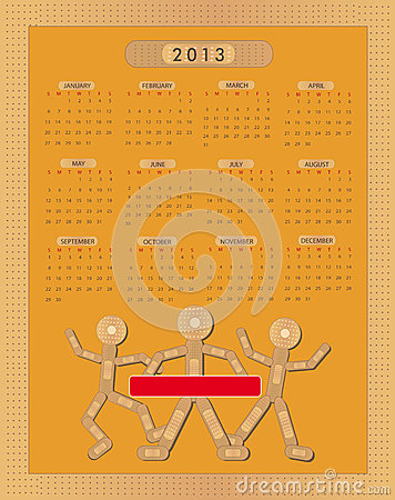 Calendar Sticking plaster Figure 2013