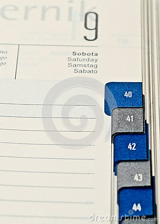 Calendar to enter the meeting showing the date of