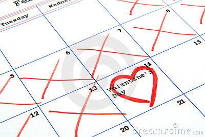 Calendar and valentine s day