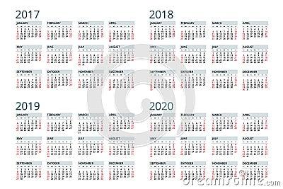 Рамки с календарём 2017-2018