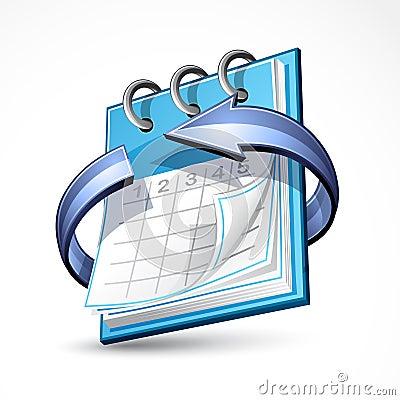 Free Calendar With Blue Arrow Stock Photo - 15382420