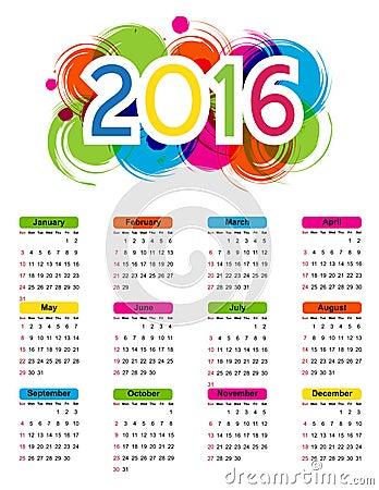 Descarga Calendario 2016 Colombia | Calendar Template 2016