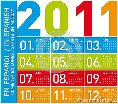 calendario 2011 espaa. calendario 2011 espaa.