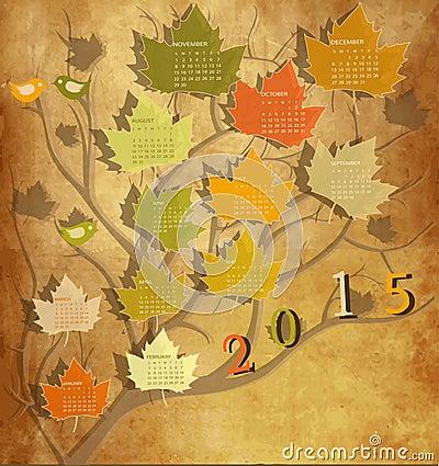 Più immagini stock simili di ` calendario d annata per 2015 `