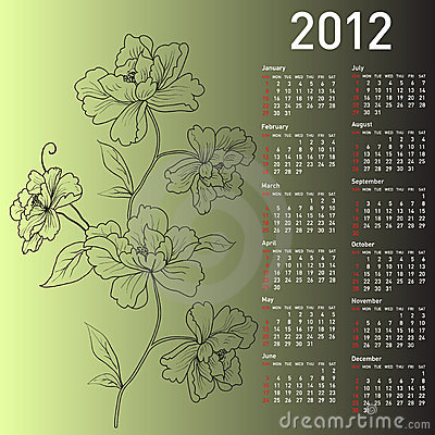 Calendarios 2012 Vectores - Real Madrid Wallpapers