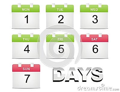 Calendario del vector