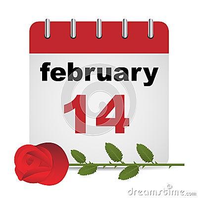 Calendario di giorno del biglietto di S. Valentino