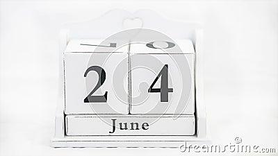 Calendario por el año almacen de video