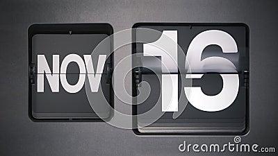 Calendario que muestra noviembre almacen de metraje de vídeo
