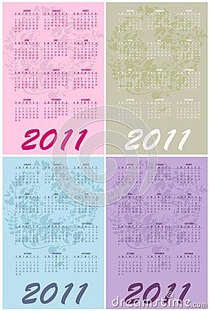 Calendars for 2011
