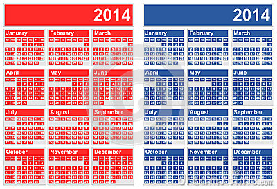 2014 Calendars Royalty Free Stock Image - Image: 32338066