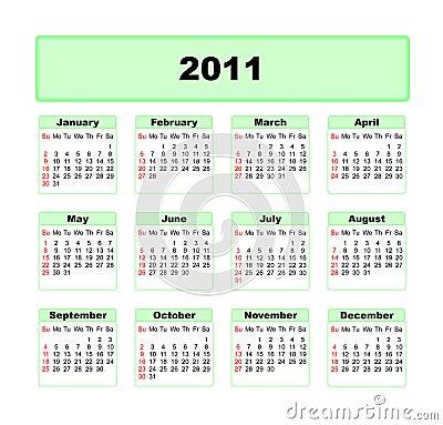 Calender 2011