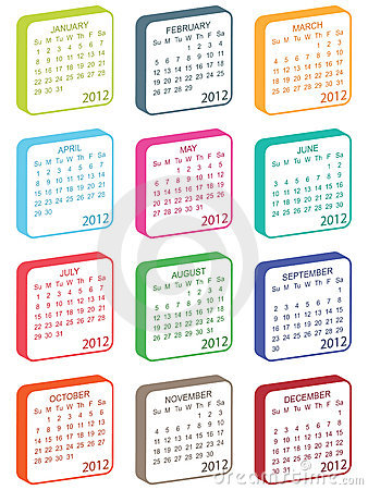 Calender for 2012