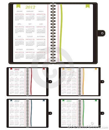 Calender notebooks 2012