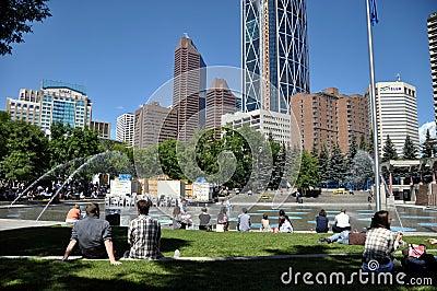 Calgary city park Editorial Stock Image