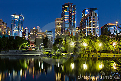 Calgary Downtown at Night