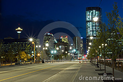 Calgary Downtown at night, Canada
