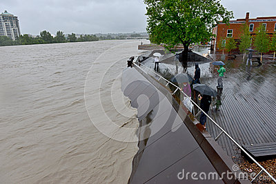 Calgary Flood 2013 Editorial Image
