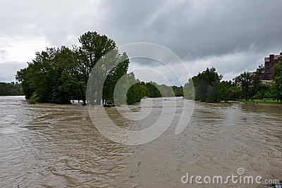 Calgary Flood 2013 Editorial Stock Image