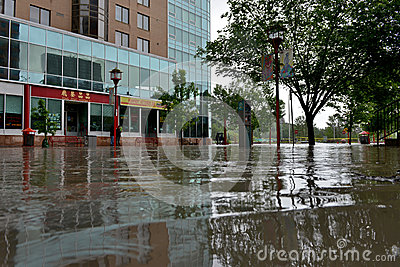 Calgary Flood 2013 Editorial Stock Photo