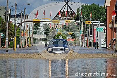 Calgary Flood 2013 Editorial Stock Image