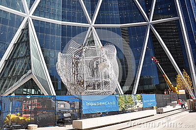 Calgary, Jaume Plensa installation Editorial Image