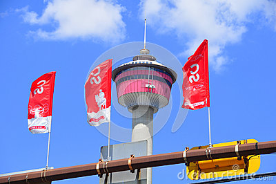 Calgary Stampede Banners Editorial Stock Photo