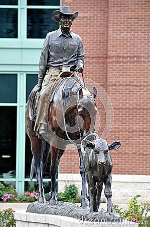 Calgary Stampede, Cowboy statue Editorial Stock Photo