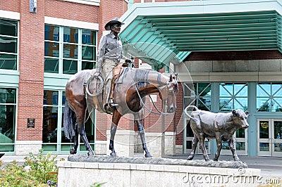 Calgary Stampede, Cowboy statue Editorial Image