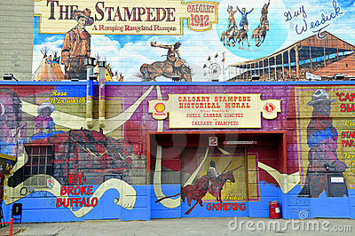 Calgary Stampede mural Editorial Photo