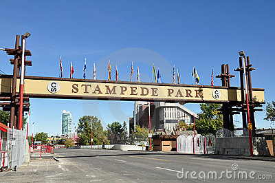 Calgary Stampede sign Editorial Stock Photo