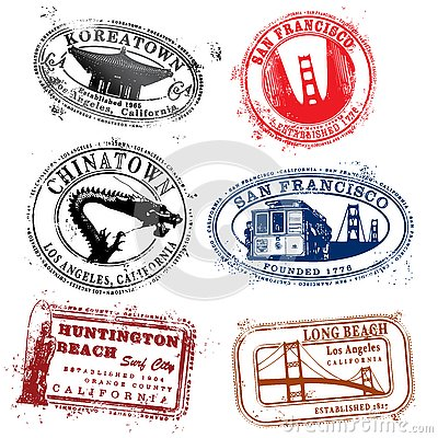 Cali Travel Stamps