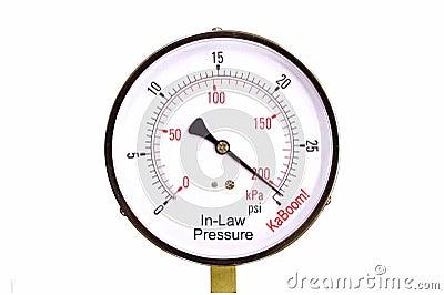 Calibrador de presión de los suegros