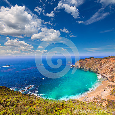 Free California Beach In Big Sur In Monterey County Route 1 Royalty Free Stock Photography - 37496707