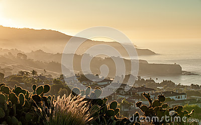 California coast at dawn