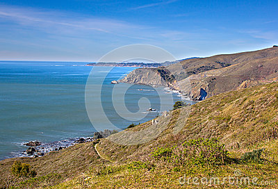 California coastline in Tamalpais state park, Marin county
