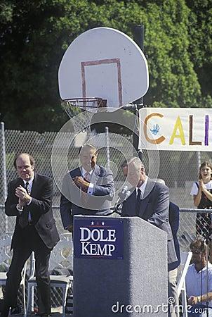 California Governor Pete Wilson Editorial Photography