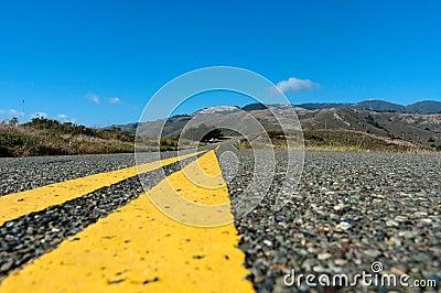 California Highway Centered