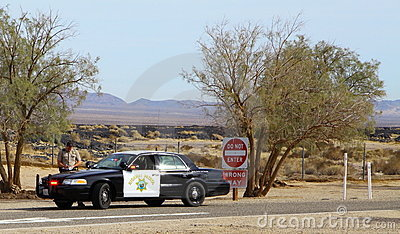 California Highway Patrol Editorial Stock Image