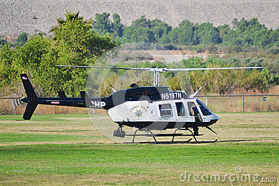 California Highway Patrol - Bell 206-L4 Editorial Photography