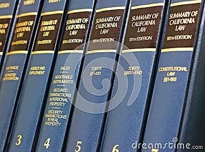 California Law Books Editorial Image