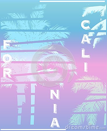 Free California Palm Beach Club Tee Print Stock Photos - 120994443